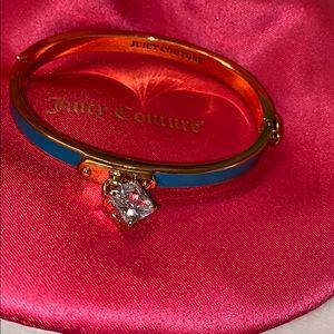 Juicy Couture gold bangle blue enamel